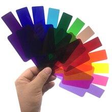 Аксессуары для вспышек 12 цветов фотографический цветной гелевый фильтр карты набор вспышки для Canon Nikon YongNuo Godox Flash Speedlite