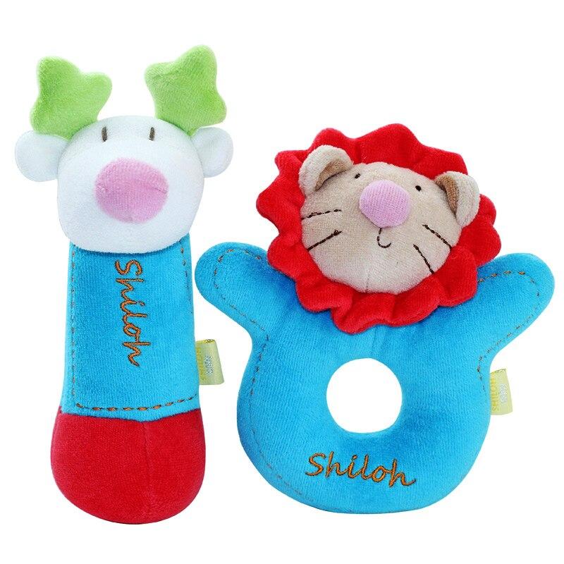 SHILOH Rattle Plush Toy Lovely Kid Children Infant Doll Intelligence Developmental Gift  ...