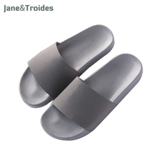 Summer Solid Color Home Men Slippers Open Toe Anti Slip Thicken Flip Flops Casual Beach Sandals Fashion Indoor Outdoor Man Shoes