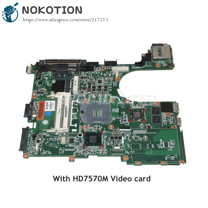 NOKOTION 686975-001 Laptop Motherboard For HP Elitebook 6570B 8570P MAIN BOARD HM76 DDR3 HD7570M Video card nokotion zs051 la a996p 764262 501 764262 001 motherboard for hp 15 g series laptop main board cpu ddr3