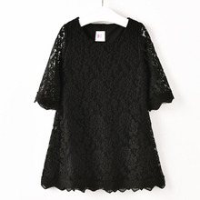 цена Girls Dress Spring Autumn Lace Princess Dress For Girls Clothes Kids Party Clothing Summer Children Dress 4 6 8 10 12 13 Years онлайн в 2017 году