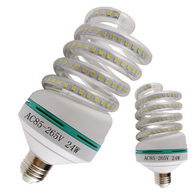 Led light bulb type U energy saving lamp home lighting super bright light source E27 screw single lamp foot pad 24W
