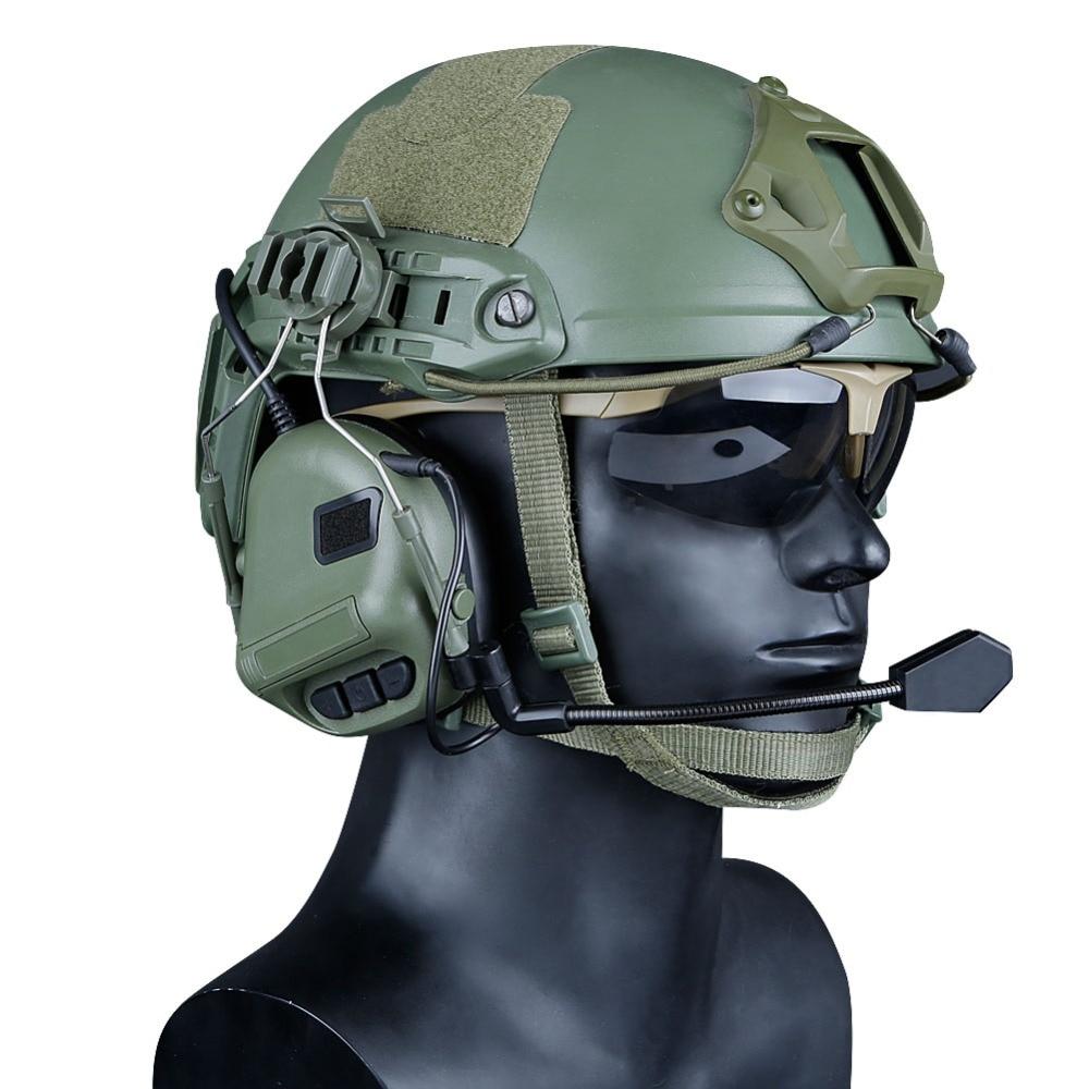 ferroviário capacete rápido tático fone de ouvido