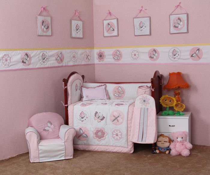 Dragonfly Baby Girl Bedding Set