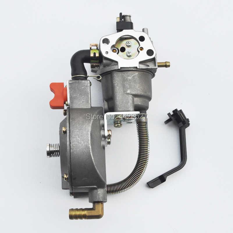 مكربن تحويل ثنائي الوقود LPG/NG يستبدل مولد Honda GX160 168F 1KW to 6KW