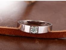 Diamond Men Solitaire Ring 18K White Gold 0 16ct H SI1 Round Natural Diamond Wedding Engagement