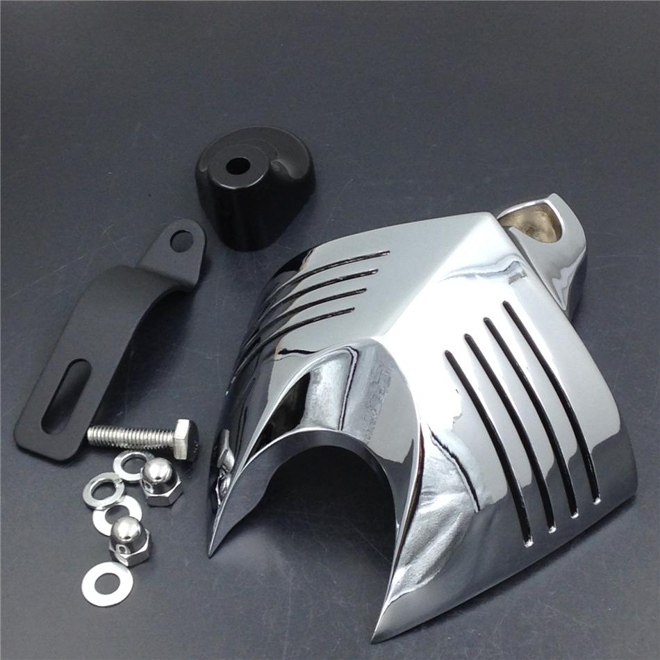 Aftermarket Free shipping Motorcycle Parts Horn Cover Fit for  Big Twins V-Rods Stock Cowbell Horns 1992-2013   Chrome aftermarket free shipping motorcycle parts eliminator tidy tail for 2006 2007 2008 fz6 fazer 2007 2008b lack