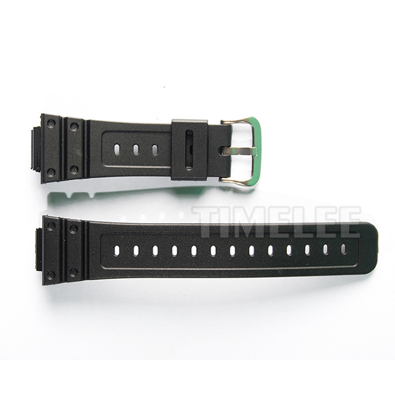 New Mens Military Black Silicone Rubber Bulge Strap 26mm*16mm for casio <font><b>DW</b></font>-5600E/<font><b>DW</b></font>-<font><b>5700</b></font>/G-5600/G-<font><b>5700</b></font> Watch Accessories image