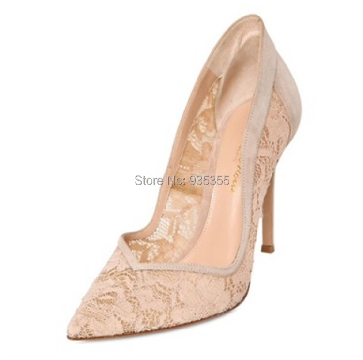 Aliexpress.com : Buy 2015 new arrival gianvito rossi nude lace