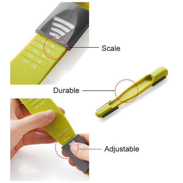 Double-end Plastic Adjustable Measuring Spoon
