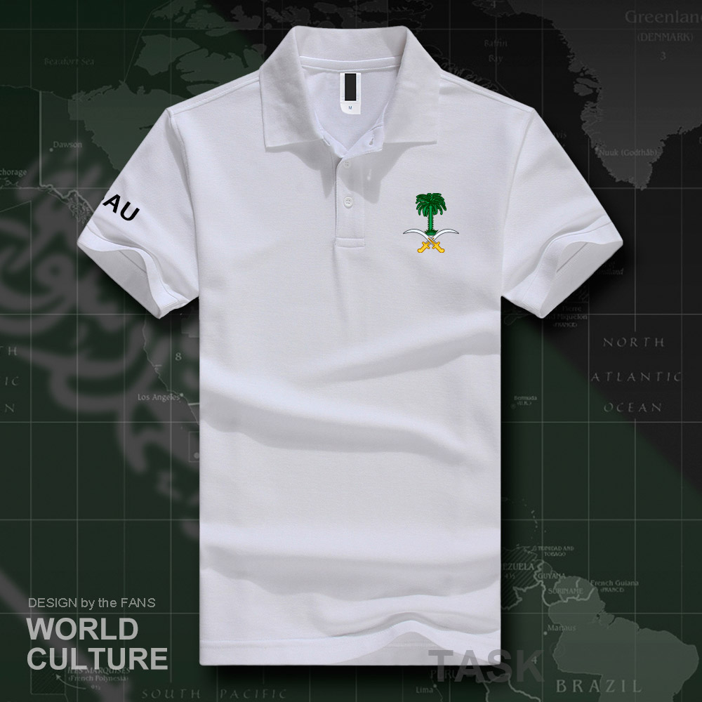 Saudi Arabia Saudi Arabian SA SAU   polo   shirts men short sleeve white brands printed for country 2018 cotton nation team flag 20