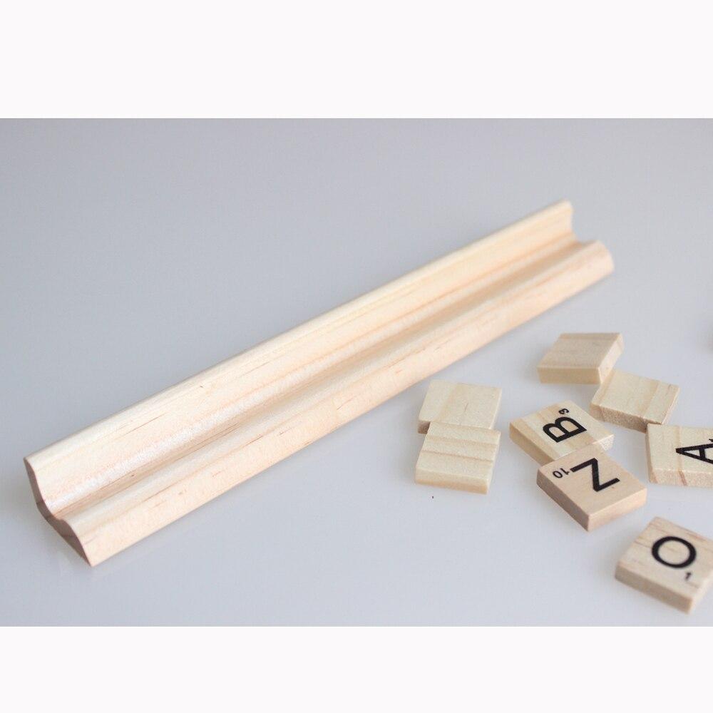 10 ədəd * Taxta Scrabble Plitələr Məktublar Qaydalar 19 sm - Ev dekoru - Fotoqrafiya 2
