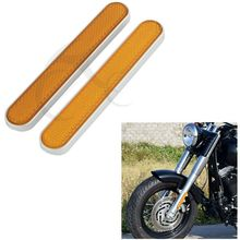 Motorcycle Rear Mudguard Reflectors For Harley Touring Sportster 883 1200 Softail Fatboy Dyna Road Glide New for harley dyna electra glide fatboy iron 883 road glide sportster 883 1200 softail motorcycle rear view rearview side mirrors
