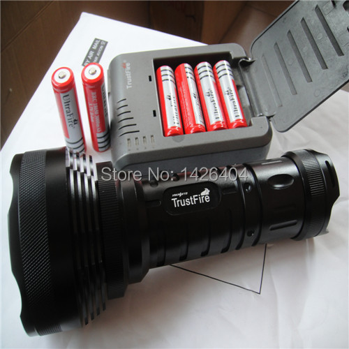 15000 Lumen 12x XM-L T6 LED Flashlight Torch 5 modes 6X 18650 battery Light with Car Charger Black waterproof xm l t6 2200 lumen torch tactical zoom led flashlight torch light lanternas led by 3 aaa 18650 battery