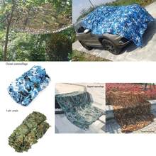 2X2M/2X4M Durable Camping Tent Lightweight Woodland Camouflage Net Military Hunting Jungle Sun Shelter Tent Shade Cloth Cover