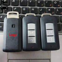 3 Buttons Smart Keyless Entry Remote Key Fob FSK 433Mhz With ID46 PCF7952 Chip For Mitsubishi