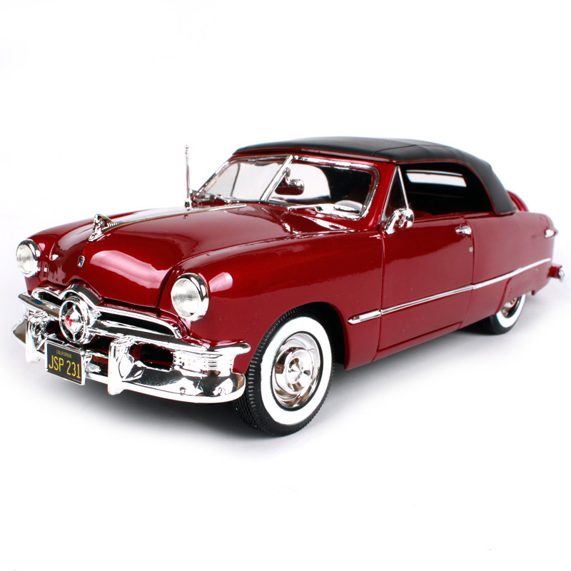 Maisto 1:18 1950 포드 레드 와인 브라운 자동차 다이 캐스트 285*100*88mm 럭셔리 빈티지 자동차 모델 오픈 도어 자동차 모양 컬렉션 31681-에서다이캐스트 & 장난감 차부터 완구 & 취미 의  그룹 1