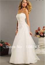 free shipping new design hot sale white lace up custom size/color handmade flower belt plus size bridal gowns weding dress 2013