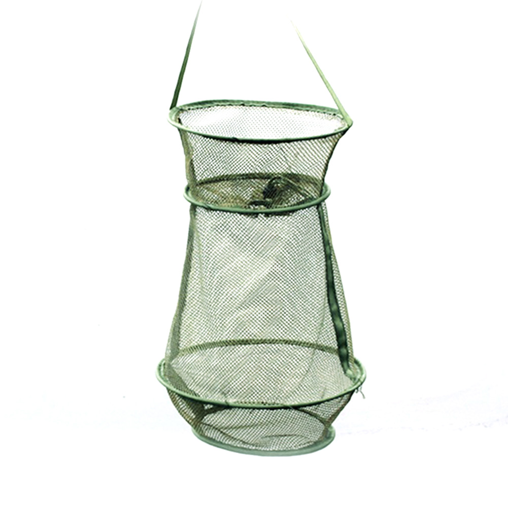Portable Fishing Net Round Folding Fish Shrimp Mesh Cage Casts Net Fishing Traps