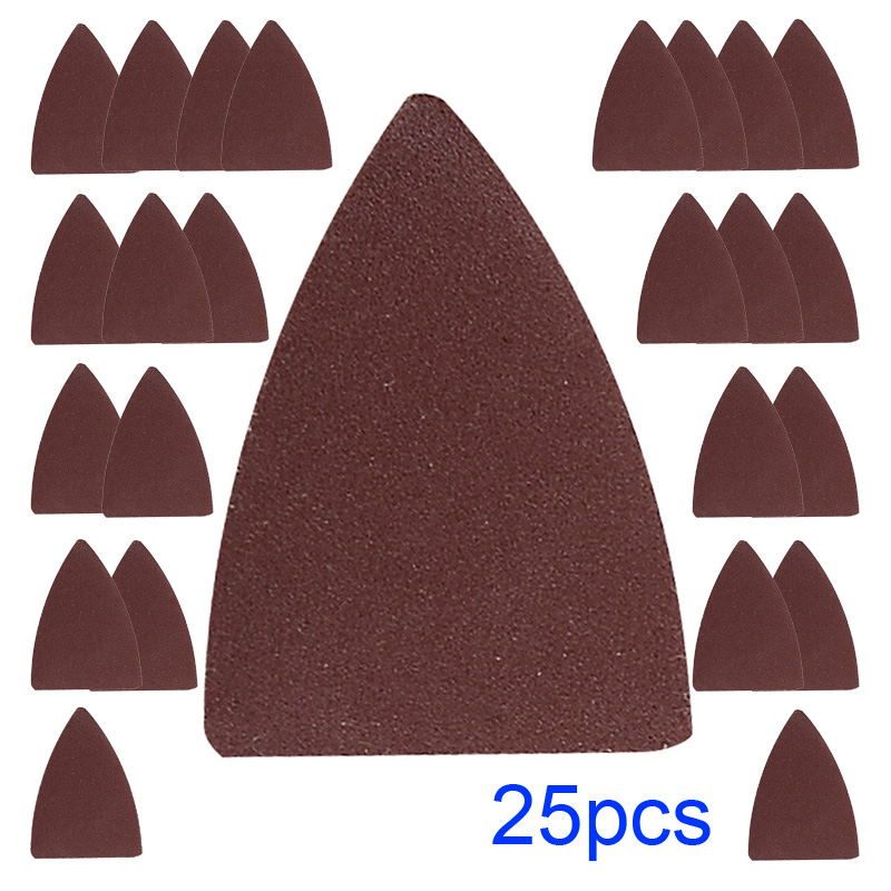 25pcs Finger Sand Paper Oscillating Tool For Fein ,Bosc Milwaukee Sanding Pad