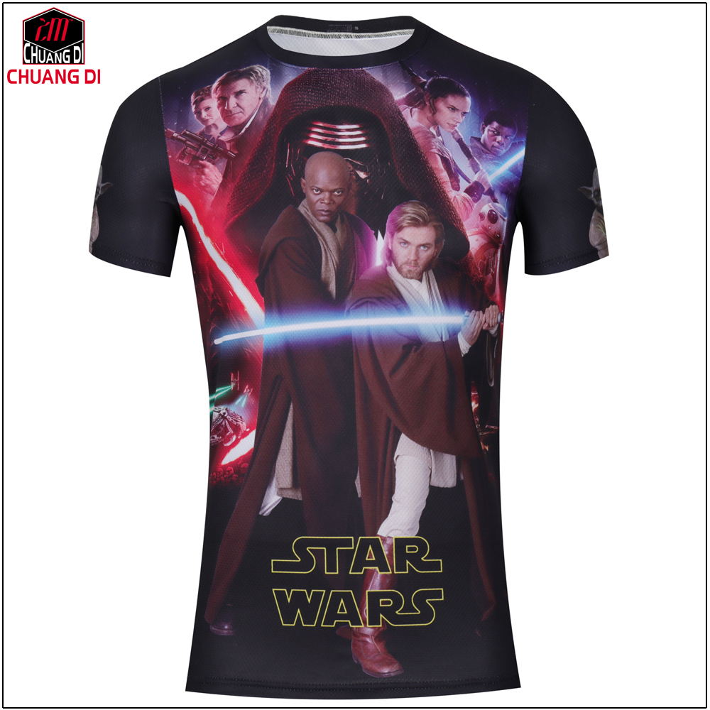 New Summer Style 3d Star Wars T Shirts Men Cycling Movie Printed