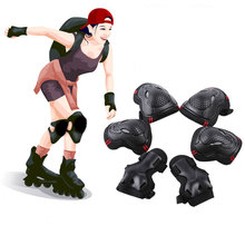 6pcs/set Adult Sports Elbow Pads Safety Knee Wrist Protector Kneecap Protection For Scooter Cycling Roller Skating Kneecap