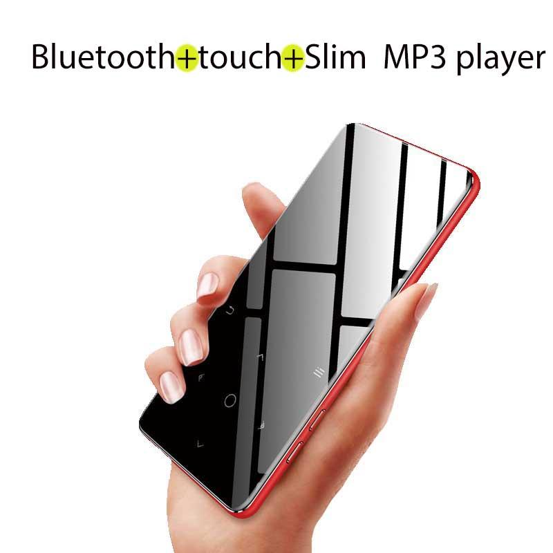 Btsmone nueva versión táctil Bluetooth MP3 reproductor de música Delgado walkman traje para correr senderismo y escalada bulit-en 8G y altavoz
