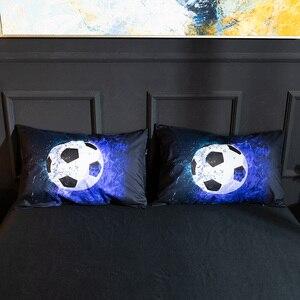 Image 5 - Набор постельного белья 3D с футбольным принтом, бейсбол, футбол, баскетбол, пододеяльник, домашний декор для спальни, льняное постельное белье