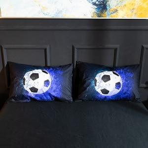 Image 5 - Parure de lit avec impression en 3D, housse de couette, de Football, de Baseball, de basket ball, décoration de chambre à coucher