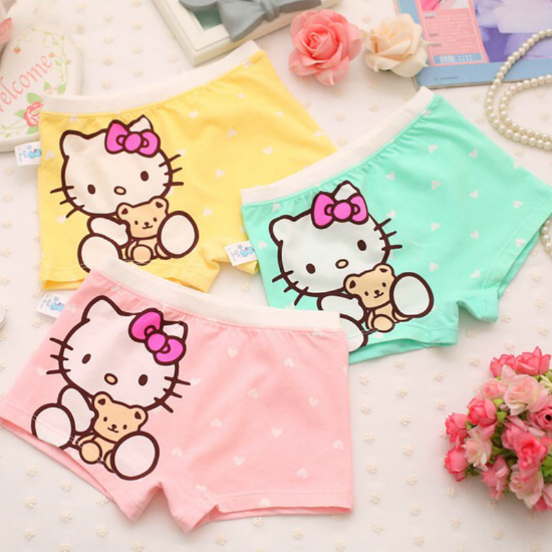 United 3pcs/lot Cute Children Girls Cat Underwear Kids Fashion Boxer Brief Infant Baby Girl Panties Fashion Children Underpants To Win A High Admiration And Is Widely Trusted At Home And Abroad. Mother & Kids