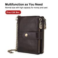 X.D.BOLO 2019 New Men Leather Wallets Male Zipper Short Purses Fashion Hasp Wallet Men Coin Card Holders Money Bag Small Wallets