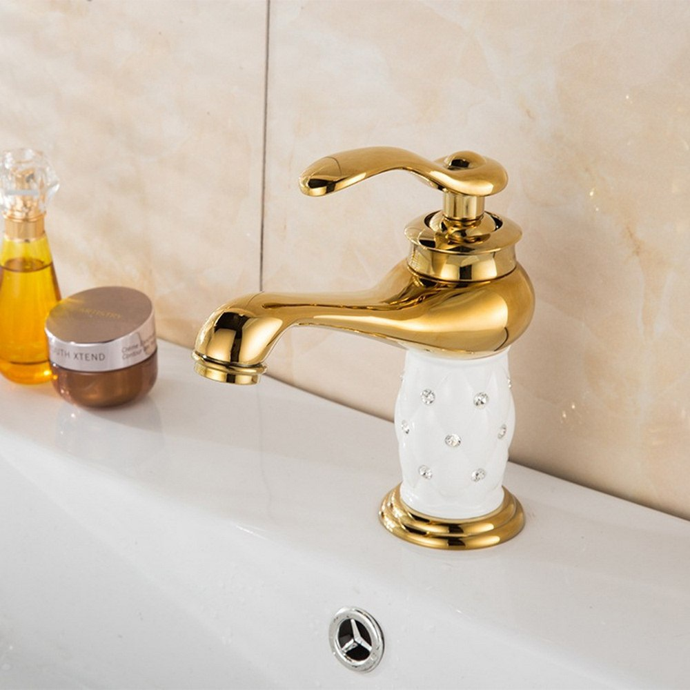 Robinets de lavabo robinet en laiton avec diamant robinet de salle de bain robinet mitigeur or mitigeur mitigeur robinet de lavabo chaud et froid torneiras banheiro