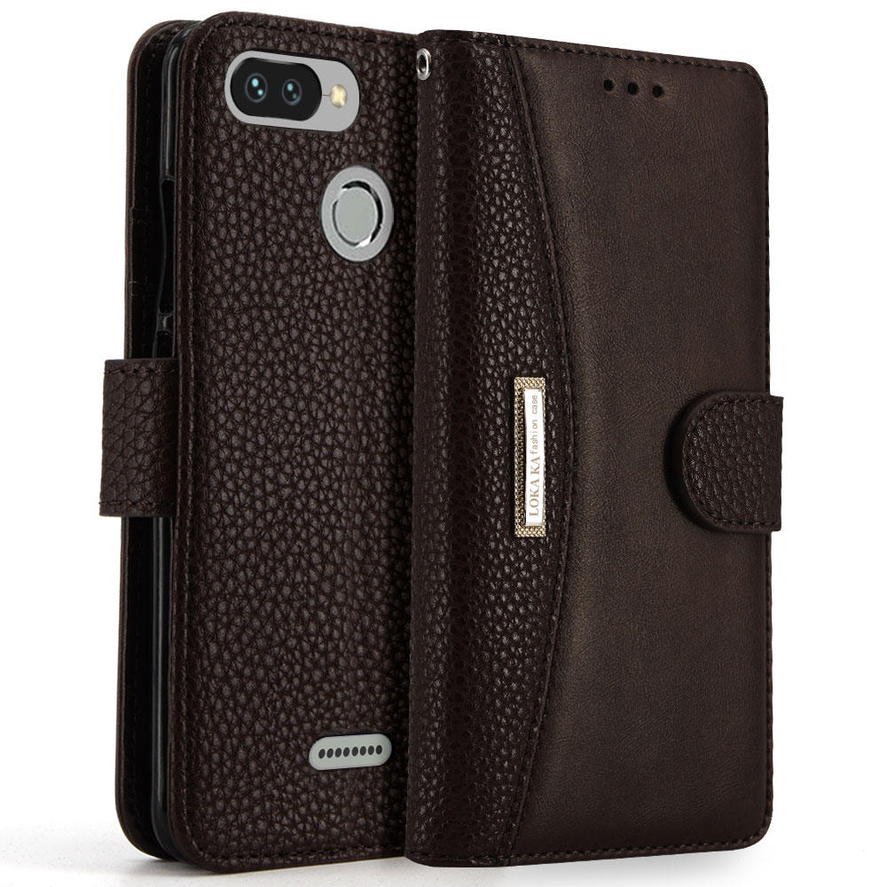 online store 23b9d 6b40f US $10.99 |LOKAKA Wallet Flip Case For Xiaomi Redmi 6 Pro PU Leather Cover  Hard Plastic TPU Card Holders Back Cases Redmi 6A 6 Pro Coque -in Flip ...