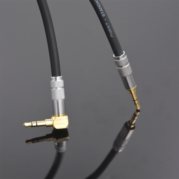 MonsterProlink Standard 100 3.5mm to male Audio cable 90 Degree Right Angle AUX Cable for phone iPod Car High Quality - discount item  15% OFF Communication Equipment