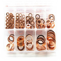 245pcs 10 Sizes Metric Copper Flat Ring Washer Gaskets Assortment Kit