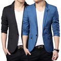 Spring 2017 Fashion Blue Silm Fit Stylish Blazer Men British Office Classic Suits Mens Blazer Jacket Terno Masculino Plus Size