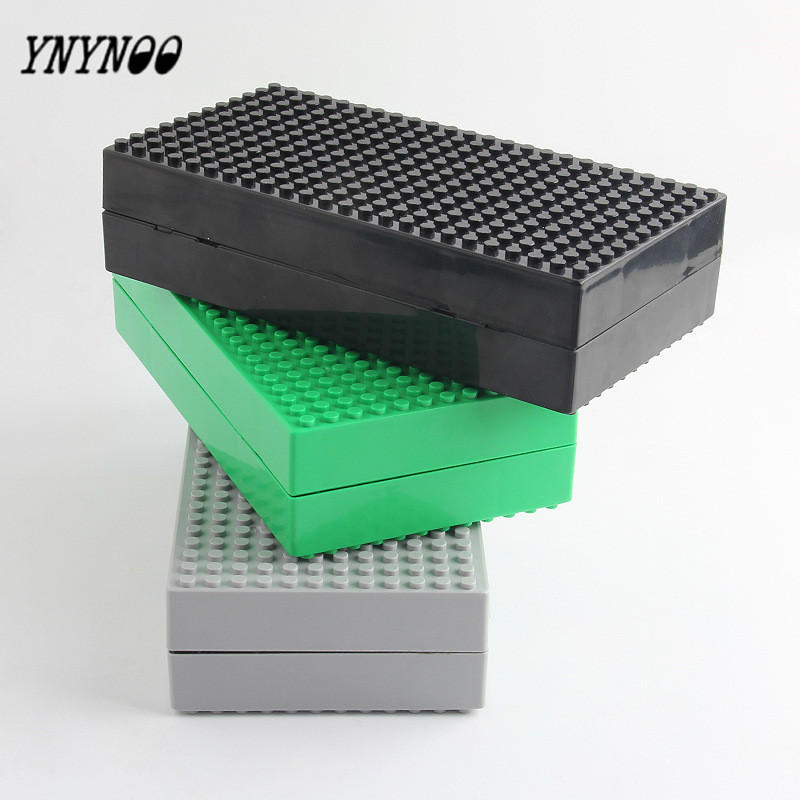 YNYNOO 2017 New Portable Multifunction Mini House Display Case Building Blocks Toys Storage Box With Small Dots Base For Figures