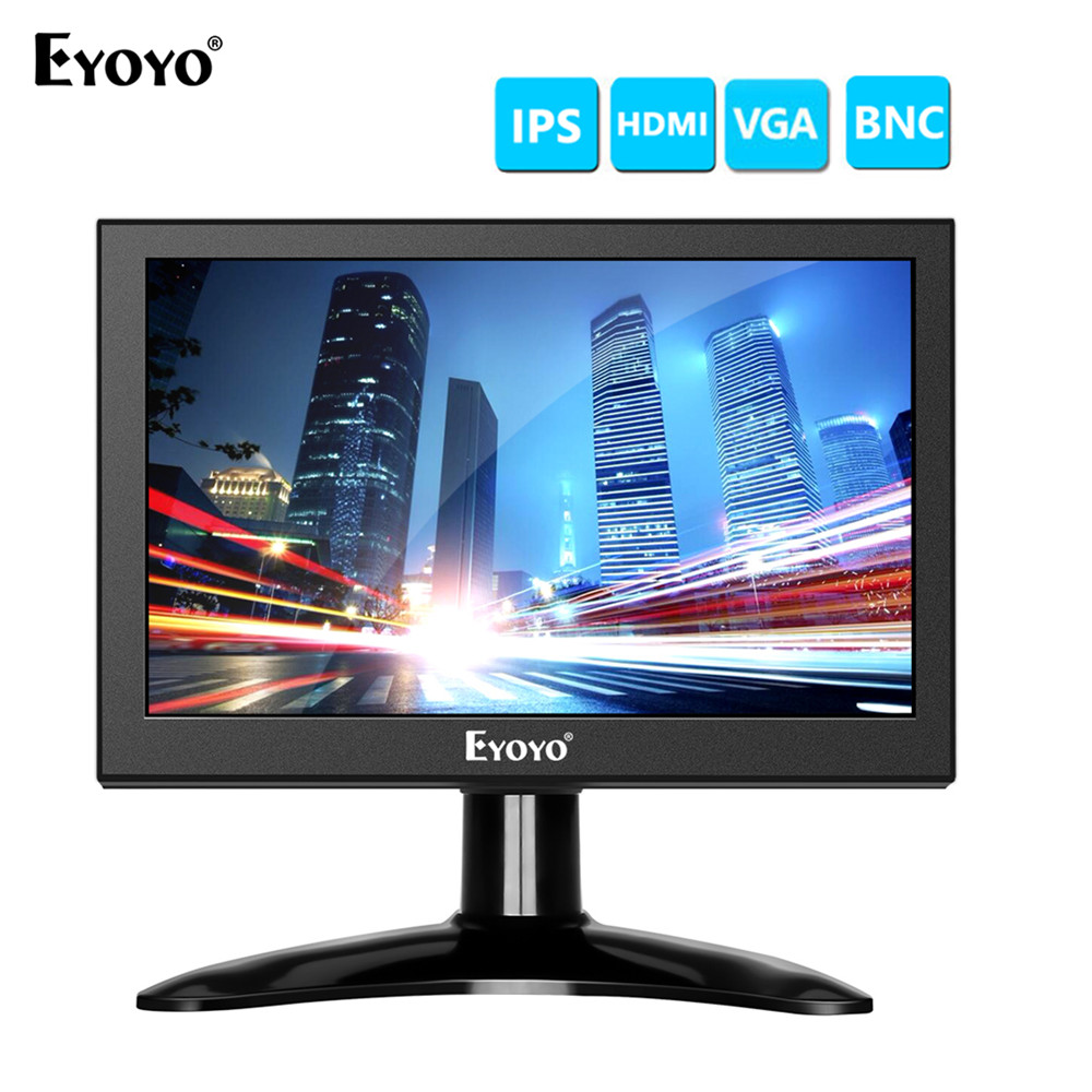 Eyoyo 7 inch EM07H Portable 1280x800 HD LCD Computer TV Display CCTV Security Surveillance Screen hdmi lcd monitors in LCD Monitors from Computer Office