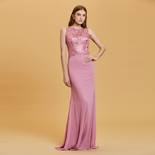 Vestido longo da noite sem mangas decote em v, vestido formal de festa de casamento a linha maxi, elegante