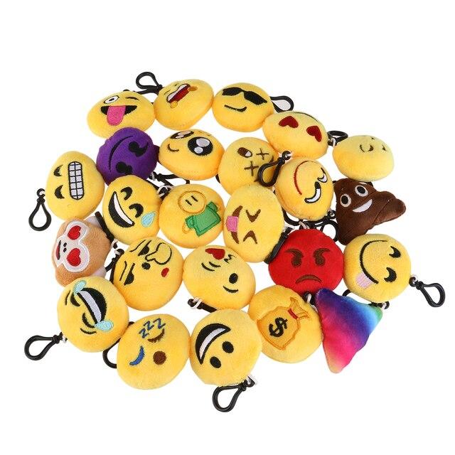 2017 Hot Product 24pcs Emoji Smiley Plush Toy Doll Emotion Yellow