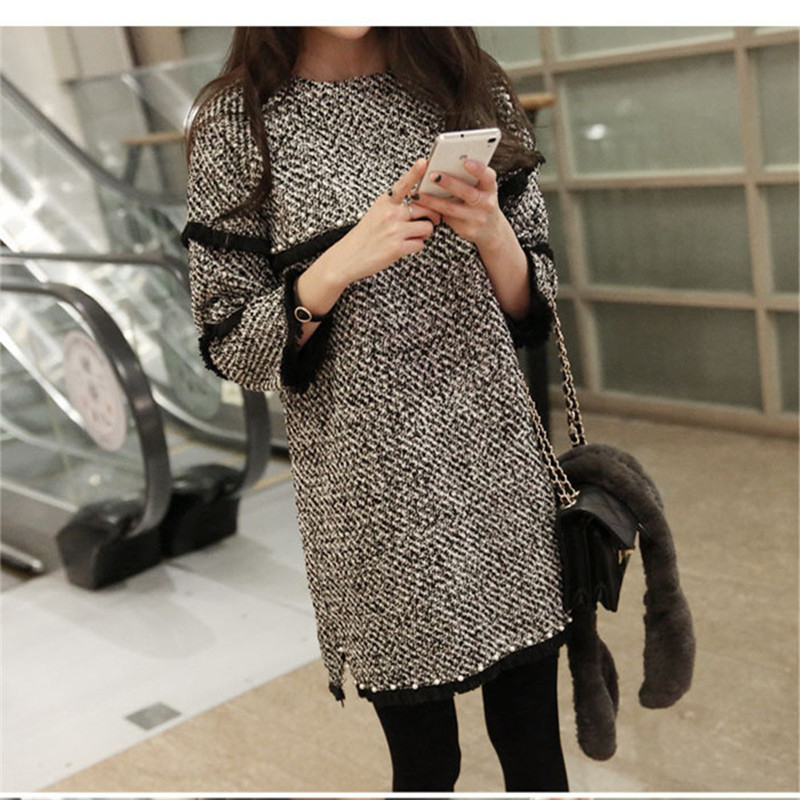 Maternity Dress For Pregnant Women Autumn Spring Clothes Pullover Tops Female Bottoming Vestidos Gravidas Pregnancy Clothing