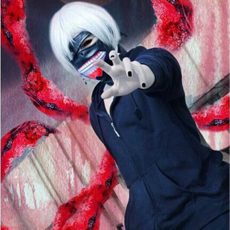 Высокое качество, распродажа, маска канеки Кен, 2 канеки Кен, регулируемые маски на молнии, искусственная кожа, крутая маска, Блиндер, аниме, косплей, головной убор