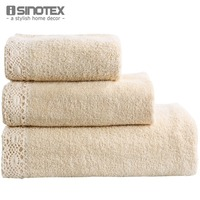 Handkerchief Face Cloth Bath Towels Lace Border Towel Sets 3pcs 100 Cotton Bathroom Jacquard Terry Adults