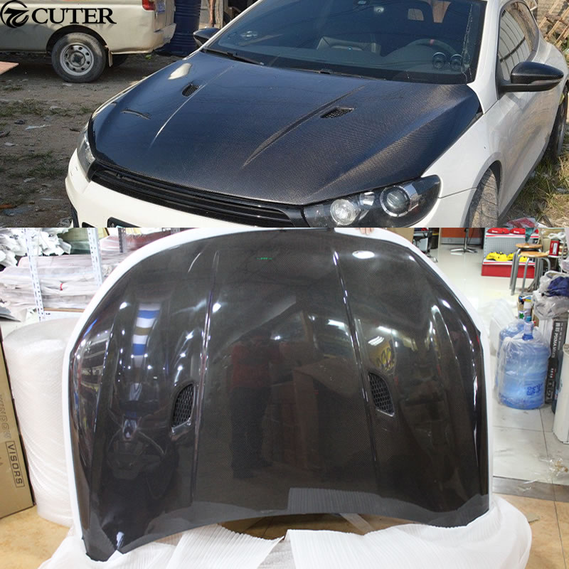 M3 style Carbon Fiber Front Hood Engine Bonnets Covers for Volkswagen VW Scirocco 2009-2014