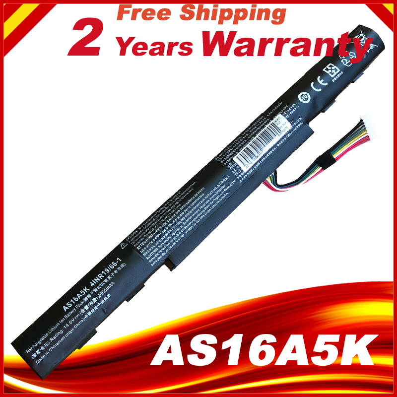 Laptop Battery For Acer AS16A5K AS16A7K AS16A8K Aspire E15 E5-475G 523G 553G 573G 575G 774G E5-575 E5-575-59QB Series