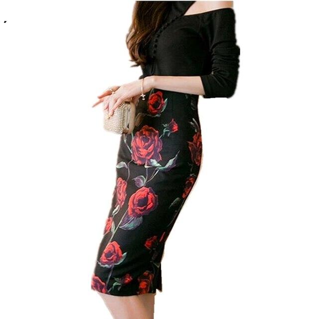 Для женщин и девочек хит сезона Европа юбки разрез на молнии был тонкий темперамент творческой печати Обтягивающая одежда шаг юбка Оптовая