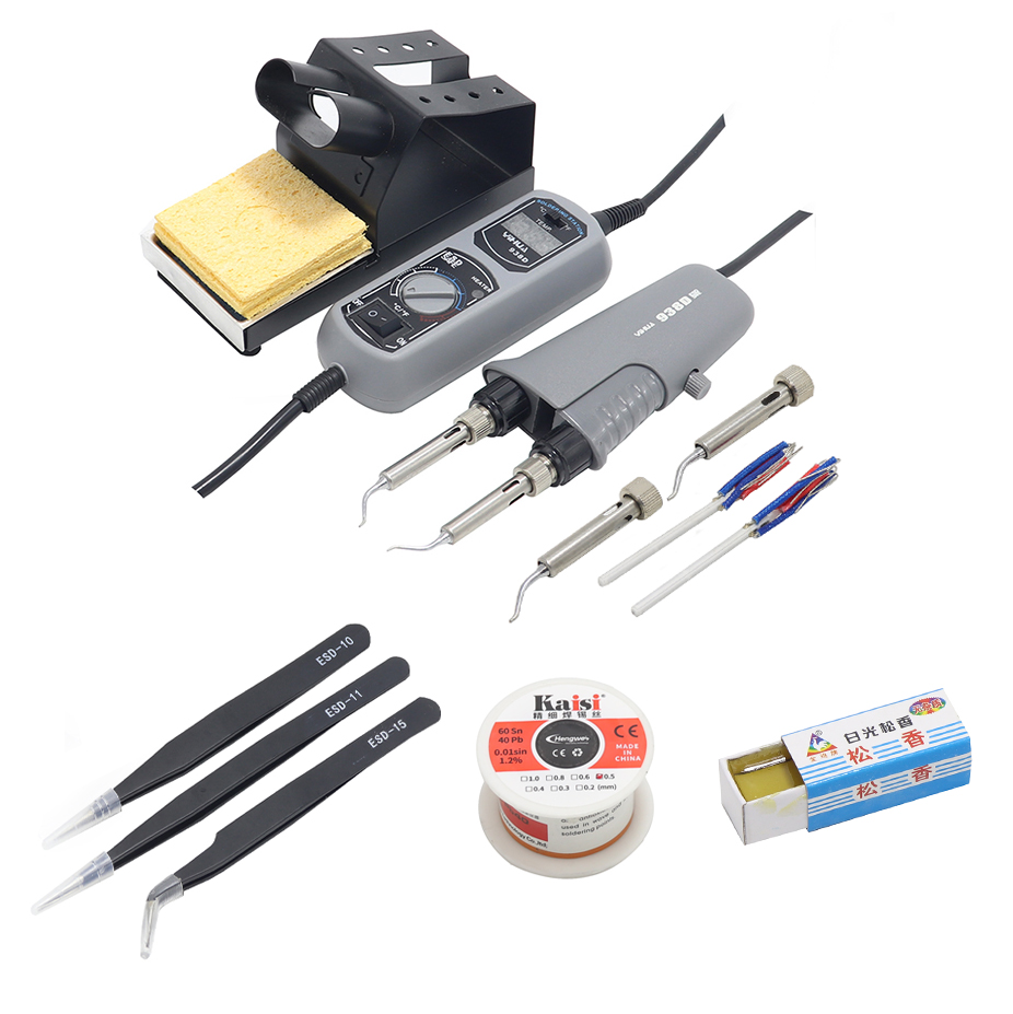 YIHUA 938D portable heating tweezers soldering station hot tweezers soldering iron for BGA patch repair-in Electric Soldering Irons from Tools    1