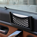 1 Pcs Organizador Net Carro Bolsos Preto 15 CM Ou 20 CM Automotivo Líquido Saco de armazenamento Caixa de Carro Viseira Adesiva Saco Para Ferramentas de Telefone Celular
