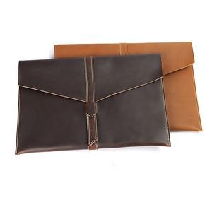 Image 1 - 노트북 용 폴더 포트폴리오 운동 용 A4 폴더 대용량 문서 서류 용 가죽 파일 가방 사무용품
