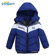 YUHANWOO Fall Winter for Children Boys' Fur Soft Hooded
